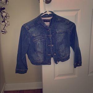 Jean cropped jacket
